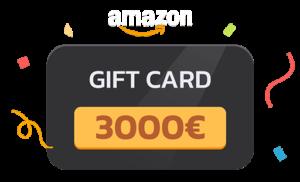 1° IN CLASSIFICA: gift card Amazon da 3000 euro