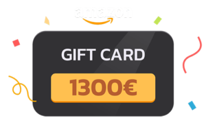 2° IN CLASSIFICA: gift card Amazon da 1300 euro
